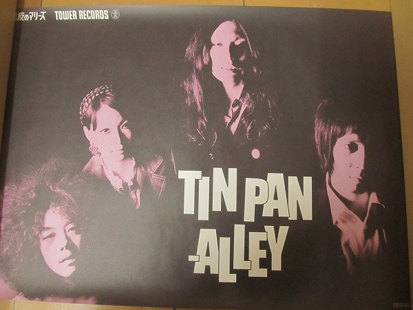 1711MK●ポスター「毛皮のマリーズ TIN PAN ALLEYティン・パン・アレイ/タワー・レコード」A2サイズ●ドレスコーズ/志磨遼平