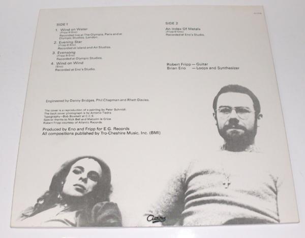 LP Fripp & Eno Evening Star AN-7018 1976_画像2