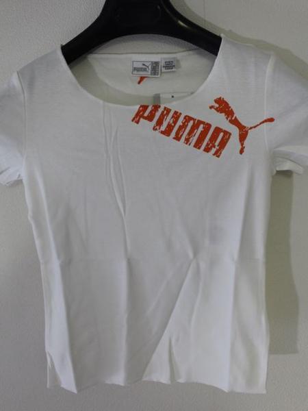 プーマ PUMA レディース半袖Tシャツ ホワイト Sサイズ 新品_画像1