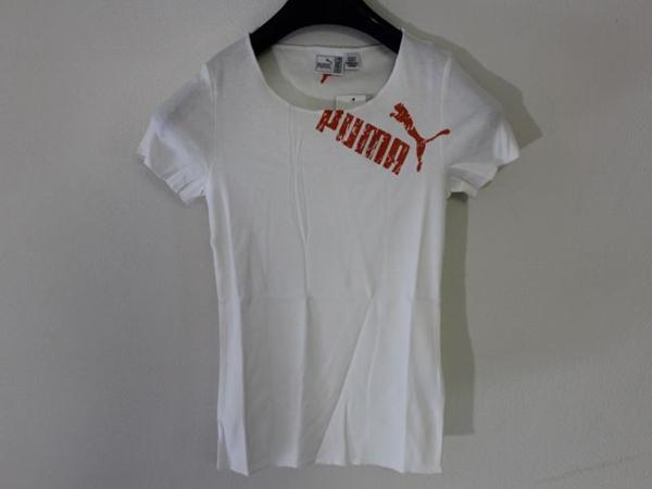 プーマ PUMA レディース半袖Tシャツ ホワイト Sサイズ 新品_画像2