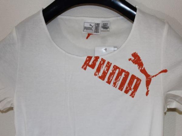 プーマ PUMA レディース半袖Tシャツ ホワイト Sサイズ 新品_画像3