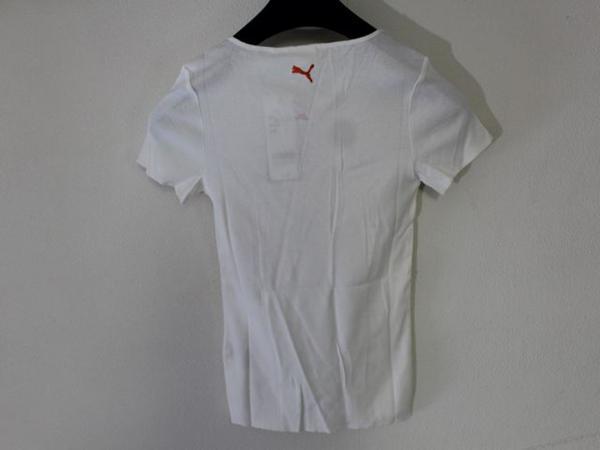 プーマ PUMA レディース半袖Tシャツ ホワイト Sサイズ 新品_画像5