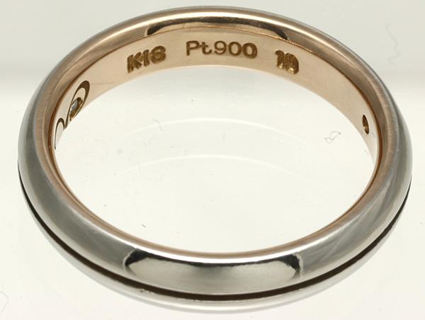 K18PG Pt900 ダイヤ リング #10 磨き済み 送料無料 【Y344】 18金 ピンクゴールド プラチナ 指輪_画像3