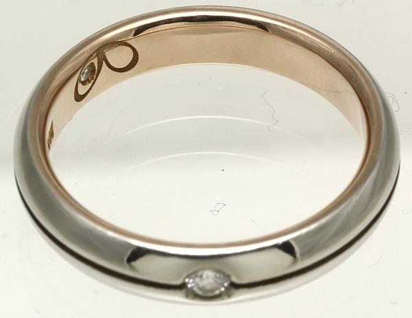 K18PG Pt900 ダイヤ リング #10 磨き済み 送料無料 【Y344】 18金 ピンクゴールド プラチナ 指輪_画像2