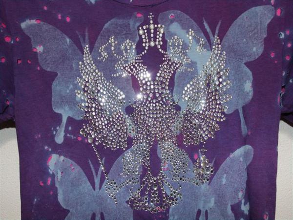 アイコニック Iconic Couture レディース半袖Tシャツ Sサイズ パープル 新品_画像3