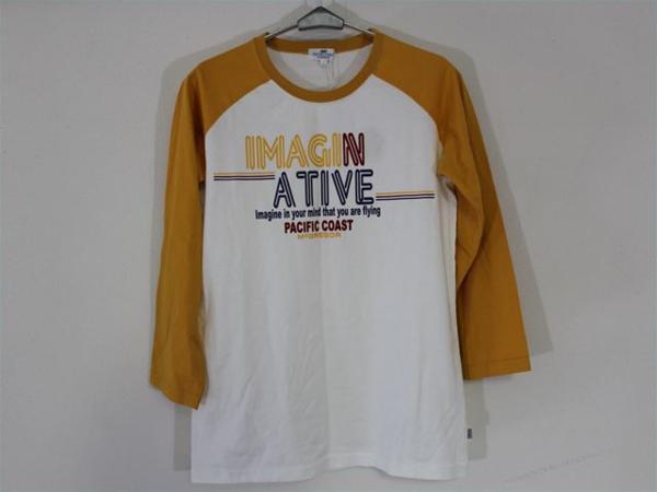 パシフィックコースト PACIFIC COAST レディース7分Tシャツ Lサイズ 新品_画像1