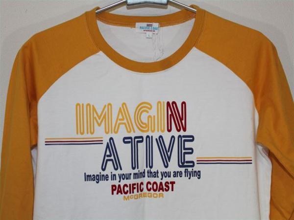 パシフィックコースト PACIFIC COAST レディース7分Tシャツ Lサイズ 新品_画像2