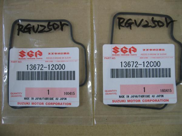 送料無料 新品 スズキ純正 RGV250ガンマ RGV250Γ VJ21A VJ22A ウルフ250 キャブレターガスケット 2個 フロートチャンバーガスケット