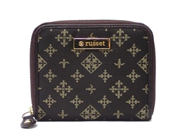1円 【russet】 ラシット ラウンドファスナー 財布 ◆美品 質屋出品 質シミズ_画像2