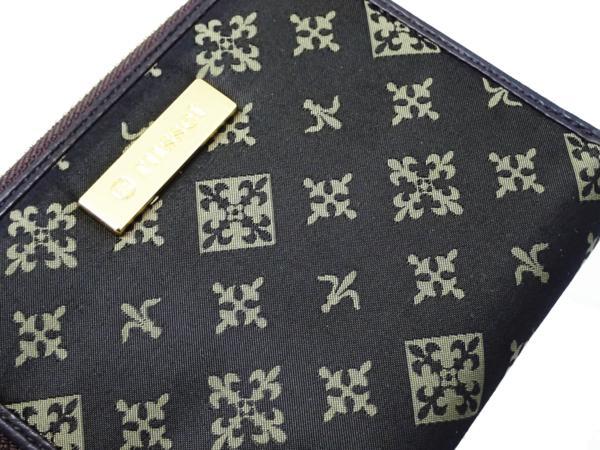 1円 【russet】 ラシット ラウンドファスナー 財布 ◆美品 質屋出品 質シミズ_画像3