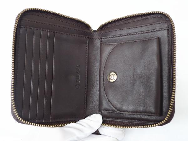1円 【russet】 ラシット ラウンドファスナー 財布 ◆美品 質屋出品 質シミズ_画像7