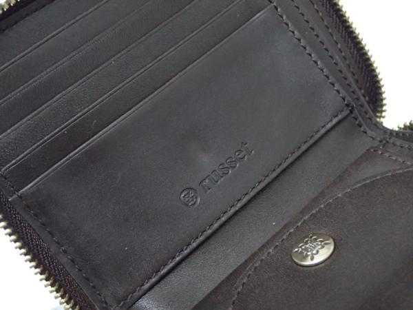 1円 【russet】 ラシット ラウンドファスナー 財布 ◆美品 質屋出品 質シミズ_画像8
