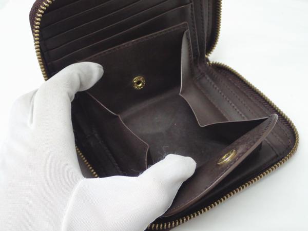 1円 【russet】 ラシット ラウンドファスナー 財布 ◆美品 質屋出品 質シミズ_画像9