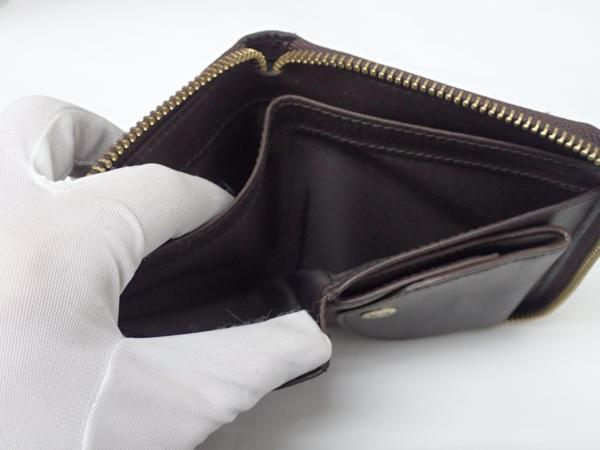 1円 【russet】 ラシット ラウンドファスナー 財布 ◆美品 質屋出品 質シミズ_画像10