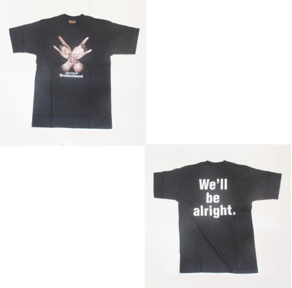 B'z LIVE GYM '99 Brotherhood Tシャツ ブラック 稲葉浩志 松本孝弘 ビーズ グッズ