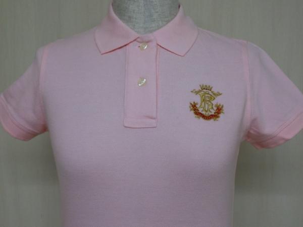 t862 【美品】 ラルフローレン POLO JEANS 半袖ポロシャツ ピンク S 綿100%_画像3