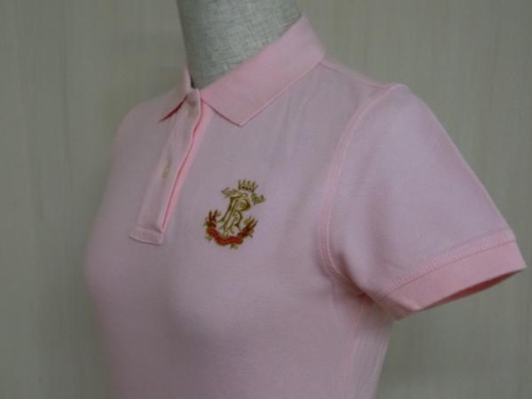 t862 【美品】 ラルフローレン POLO JEANS 半袖ポロシャツ ピンク S 綿100%_画像4