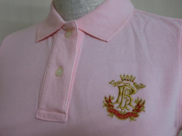 t862 【美品】 ラルフローレン POLO JEANS 半袖ポロシャツ ピンク S 綿100%_画像7