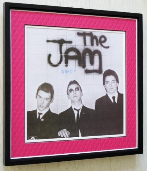 ザ・ジャム/レコードジャケット ポスター額入/The Jam/ポール・ウェラー/Paul Weller/モッズ・リバイバル/額入ロック/ジャケ買いパンク
