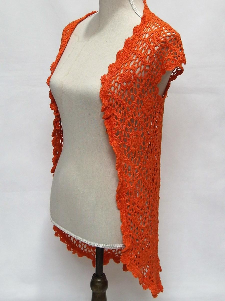 titty&Co.◆手編み風ロングカーディガン(オレンジ) サイズ O/S◆新品タグ付き⑳_画像1