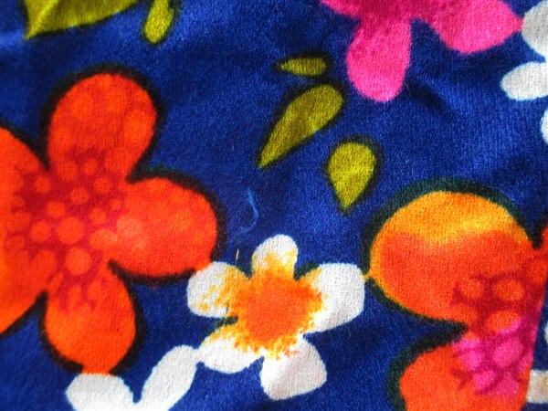 Flutterby花柄ワンピース/USAヴィンテージ古着レトロヒッピーサイケ_画像6