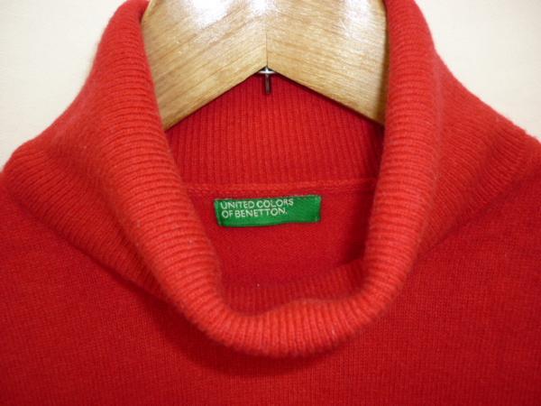 【YS-1】■ベネトン BENETTON レディース ニットシャツ■赤系_画像3