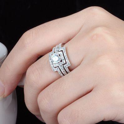 豪華 0.40ct 3本組セット 重ね付け 結婚指輪 パヴェリング_画像8