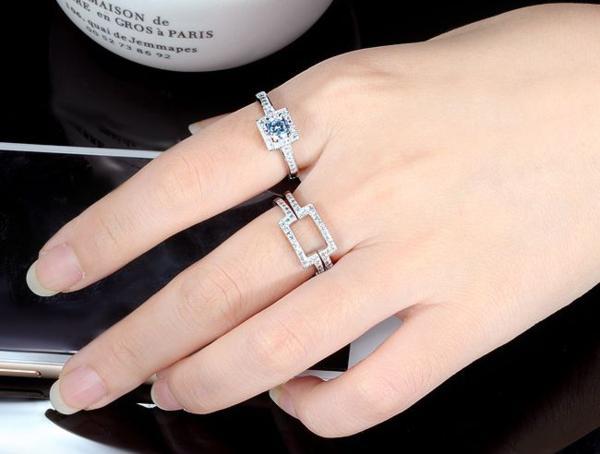 豪華 0.40ct 3本組セット 重ね付け 結婚指輪 パヴェリング_画像10