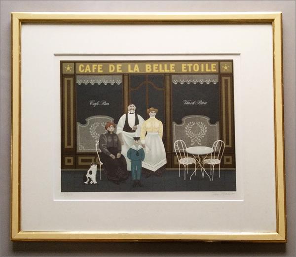 【ジャン・バレー CAFE DE LA BELLE ETOILE 127/300(額装)】検:Jan Baletリトグラフ_画像1