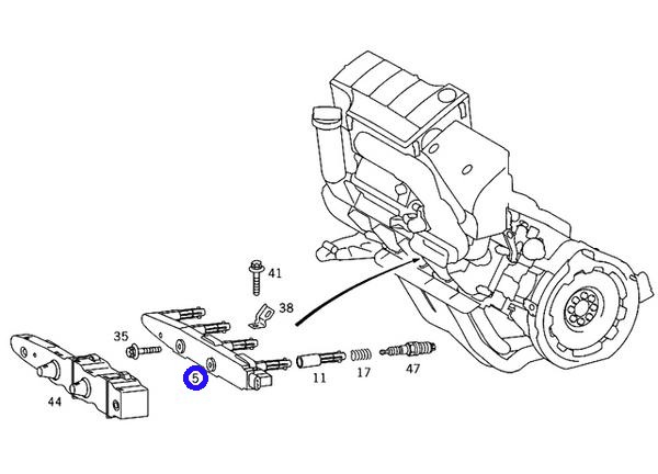 W168 Aクラス A160 A190 A210EVOLUTION/BOSCH製 イグニッションコイル IGコイル (000-150-1380/0221-503-033) M166エンジン_画像3