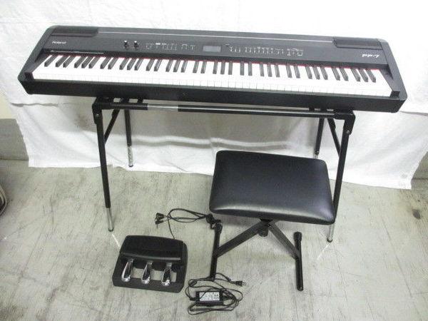 [1円] Roland デジタルピアノ FP-7 2007年製 電子ピアノ 88鍵PHAⅡ鍵盤 スタンド 椅子 付き