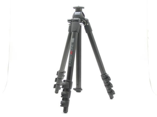 ★ハロ-カメラ★5730 Manfrotto CARBON ONE 440 4段三脚(縮 53/伸 164cm)良品