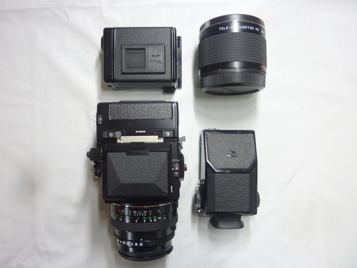 ☆ZENZA BRONICA 中判カメラ ETR Si & レンズ/フィルムバック/テレコンバーター/ファインダーSET☆ジャンク_画像10