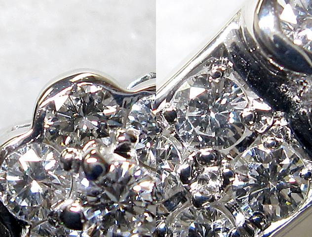 【銀トレ】計0.871ct天然ダイヤモンド/Pt900/フラワー/ストレートリング_画像2