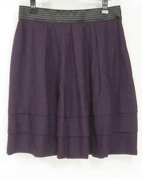 値下げ アンタイトル UNTITLED パープル スカート 44_画像1