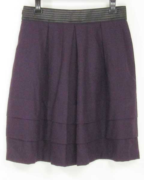 値下げ アンタイトル UNTITLED パープル スカート 44_画像2