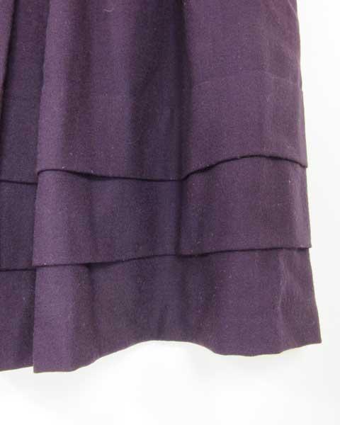 値下げ アンタイトル UNTITLED パープル スカート 44_画像3