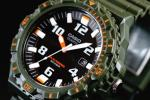 1円×10本 新品未使用 逆輸入 CASIO カシオ ミリタリー調 ソーラー電池搭載100m防水 KAHKI ×ORANGE 10気圧 超高性能 ハイスペック腕時計