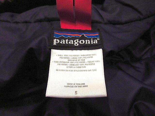 Patagoniaパフボールセーター 赤sizeS★パタゴニアアウトドア古着中綿マウンテンパーカダスパーカーダウンジャケット男女兼用83970FAレッド_画像9