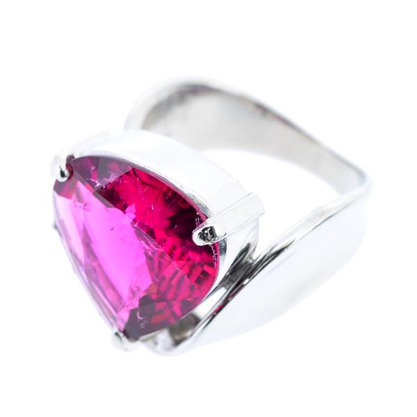 A120【BSJJ】Pt900 天然レッドトルマリン5.80ct ダイヤモンド0.13ct リング 宝石鑑別書 中央宝石研究所_画像3