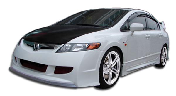 Rear Bumper Cover 4dr sedan; 2006-2011 HONDA CIVIC