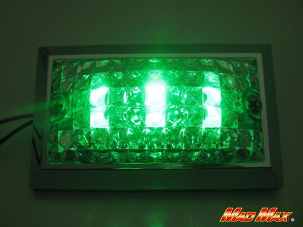 大特価! LED6連 角マーカーランプ 12V用 グリーン 10個SET_画像2