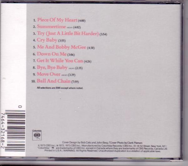 Janis Joplin / Janis Joplin's Greatest Hits_画像2