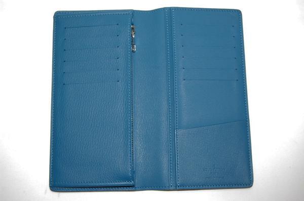 ルイヴィトン M58193 ポルトフォイユブラザ 長財布 トリヨン (ブルー) 【未使用品】_画像2