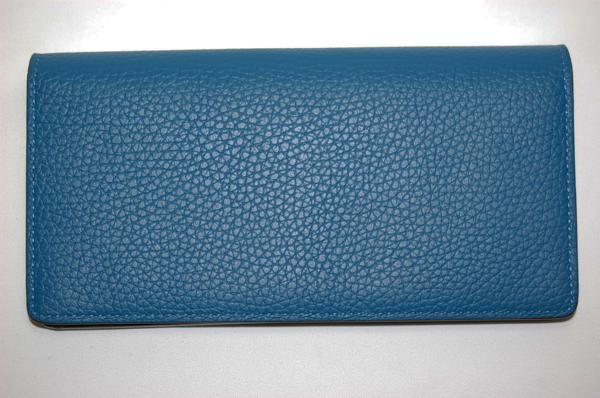 ルイヴィトン M58193 ポルトフォイユブラザ 長財布 トリヨン (ブルー) 【未使用品】_画像3
