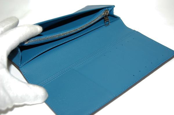ルイヴィトン M58193 ポルトフォイユブラザ 長財布 トリヨン (ブルー) 【未使用品】_画像4