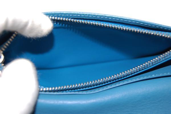 ルイヴィトン M58193 ポルトフォイユブラザ 長財布 トリヨン (ブルー) 【未使用品】_画像5