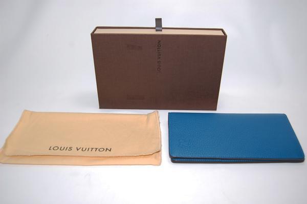 ルイヴィトン M58193 ポルトフォイユブラザ 長財布 トリヨン (ブルー) 【未使用品】_画像6