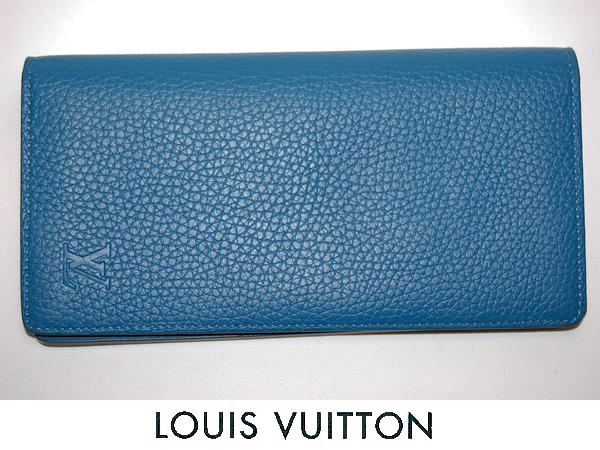 ルイヴィトン M58193 ポルトフォイユブラザ 長財布 トリヨン (ブルー) 【未使用品】_画像1
