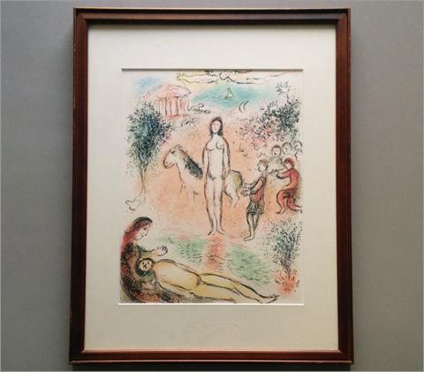 【シャガール リトグラフ (額装)】検:Marc Chagallオデッセイ_画像1